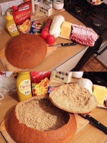 Sātīgu brokastu foto recepte: Pildītais kukulītis 1
