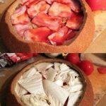 Sātīgu brokastu foto recepte: Pildītais kukulītis 6