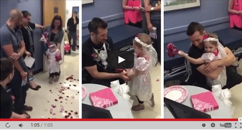 Četrgadīga meitene apprec savu slimnīcas kopēju (video)