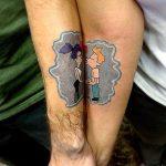 24 idejas pāru tetovējumiem. Kurus izvēlētos jūs? 18