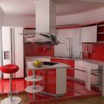 Sarkana krāsa virtuvē - pikants interjera risinājums 2