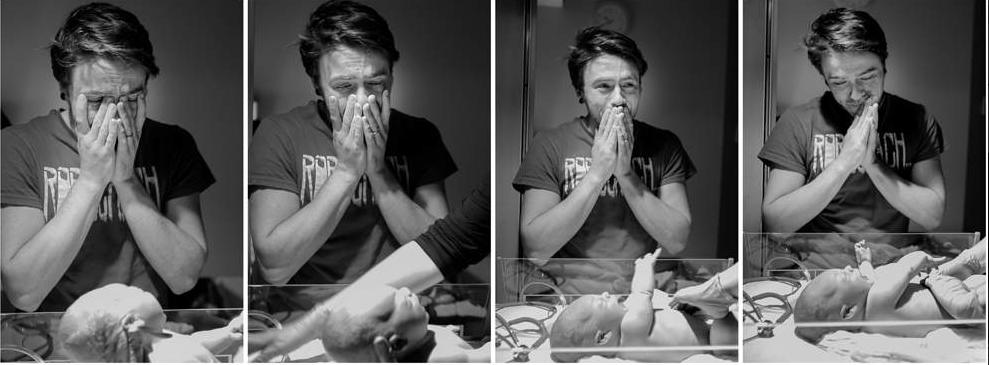 Aizkustinošie mirkļi: Tēti pirmo reizi ierauga savus jaundzimušos 1