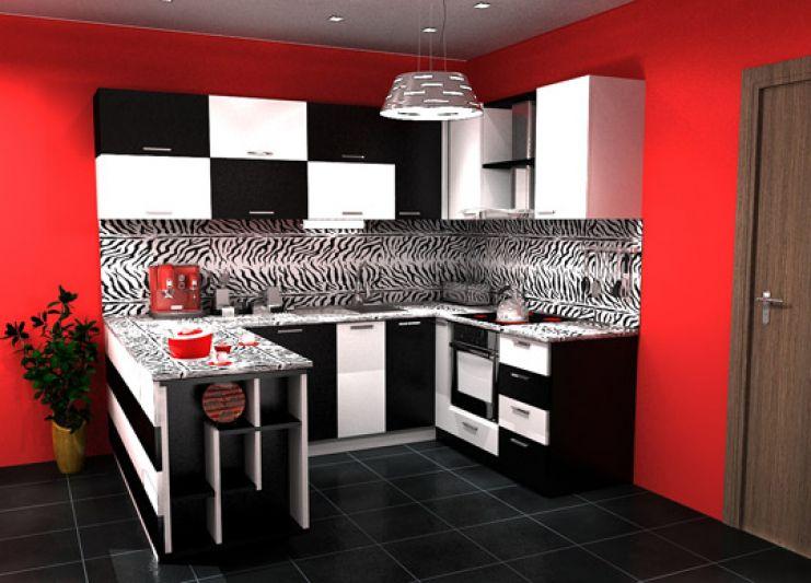 Sarkana krāsa virtuvē - pikants interjera risinājums 4