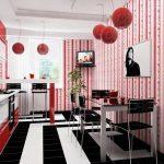 Sarkana krāsa virtuvē - pikants interjera risinājums 6