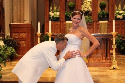 Līgavas bērniņa gaidībās ir ne mazāk burvīgas (bildes) 1