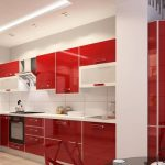 Sarkana krāsa virtuvē - pikants interjera risinājums 8