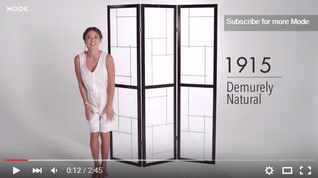 Apakšveļas mode 100 gadu griezumā 3 minūtēs Kā bija agrāk un tagad?