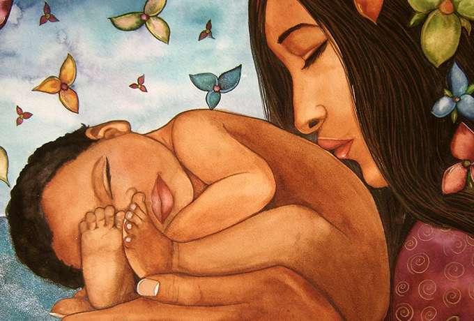 Mamma ārstē ar vārdiem jeb mammas vārdojums laimei