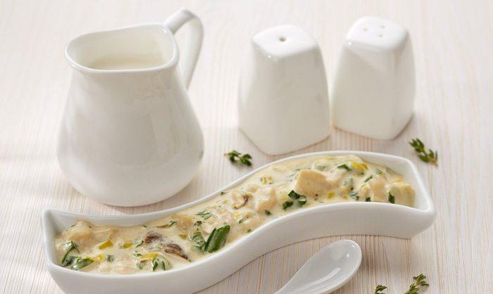Сливочный соус с белыми грибами и сыром чеддер8