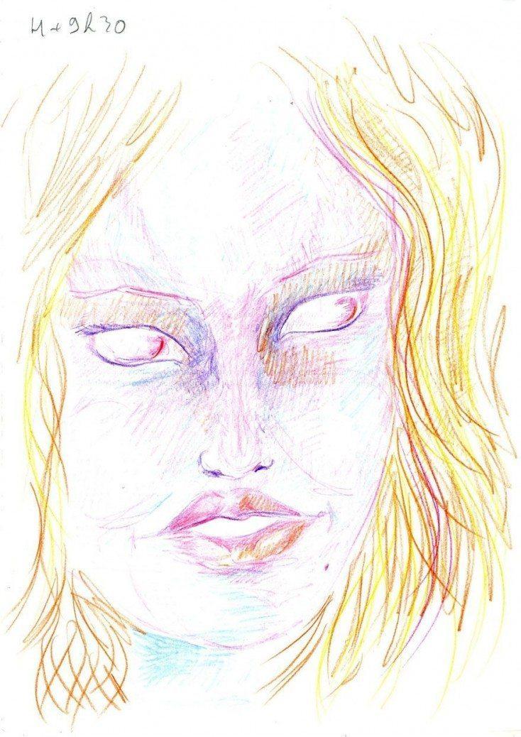 Māksliniece iedzēra LSD  un gleznoja 9 stundas, lai parādītu kā narkotikas iedarbojas uz smadzenēm 1