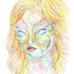Māksliniece iedzēra LSD  un gleznoja 9 stundas, lai parādītu kā narkotikas iedarbojas uz smadzenēm 9