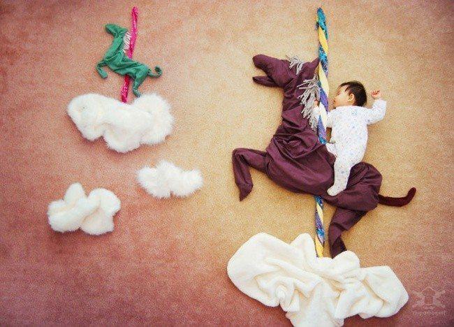 20 fantastiskas idejas kreatīvai zīdaiņu fotosesijai 2