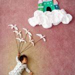 20 fantastiskas idejas kreatīvai zīdaiņu fotosesijai 9