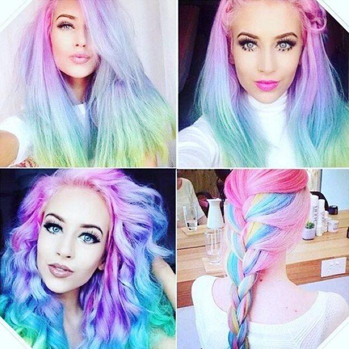Jauna matu krāsošanas mode - opāla krāsas mati 2