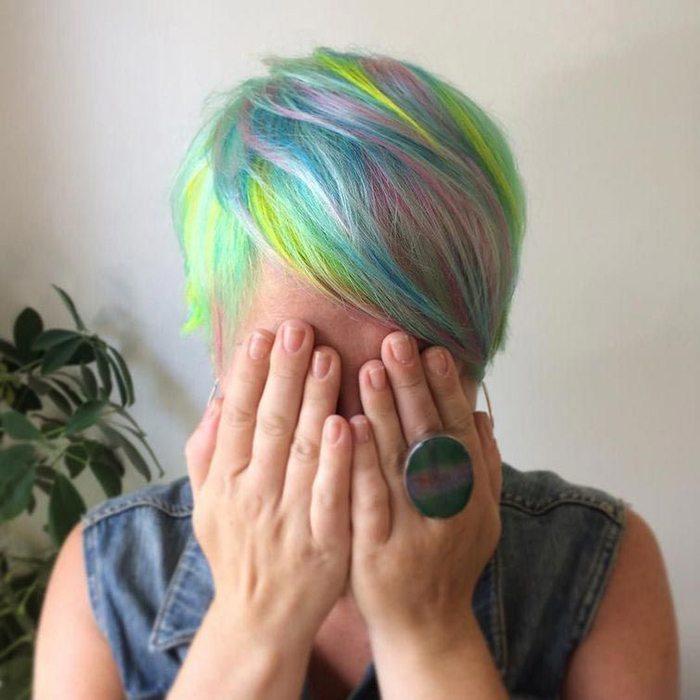 Jauna matu krāsošanas mode - opāla krāsas mati 12