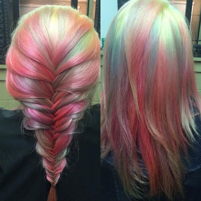 Jauna matu krāsošanas mode - opāla krāsas mati 13
