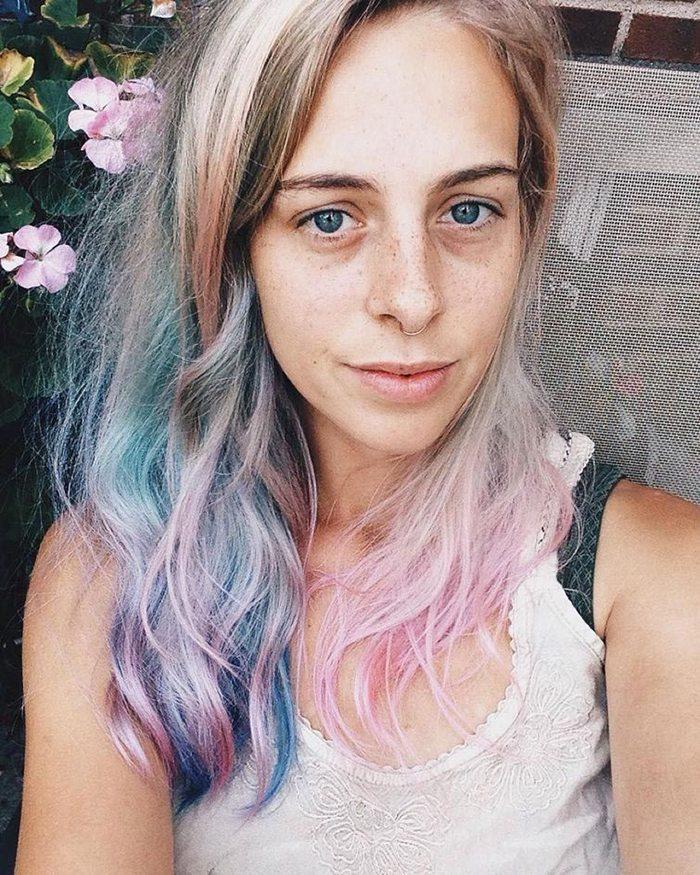 Jauna matu krāsošanas mode - opāla krāsas mati 14