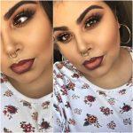 Šī rudens trends: 15+ paši stilīgākie tumšo toņu make-up piemēri 14