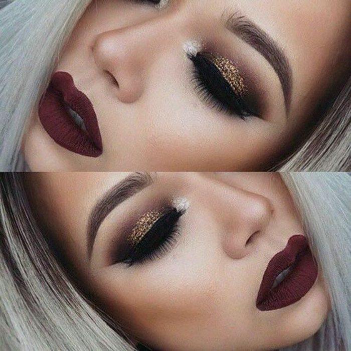 Šī rudens trends: 15+ paši stilīgākie tumšo toņu make-up piemēri 18