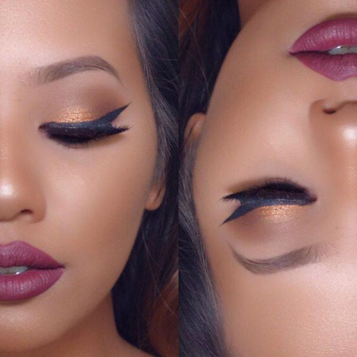 Šī rudens trends: 15+ paši stilīgākie tumšo toņu make-up piemēri 19