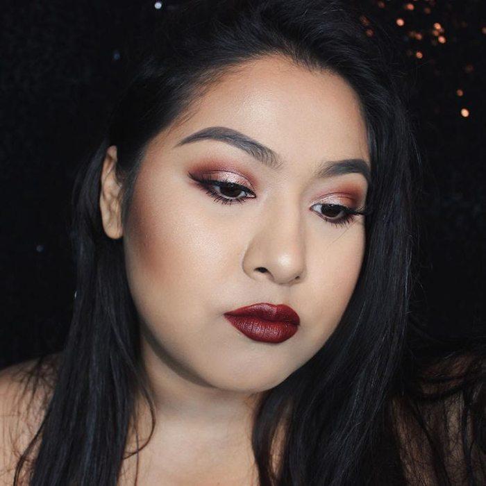 Šī rudens trends: 15+ paši stilīgākie tumšo toņu make-up piemēri 3