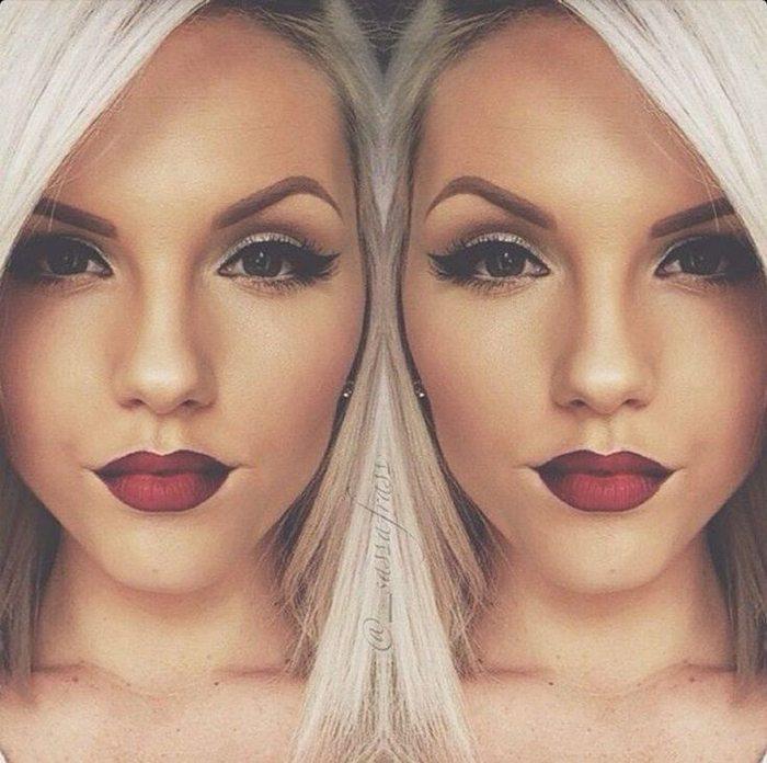 Šī rudens trends: 15+ paši stilīgākie tumšo toņu make-up piemēri 4