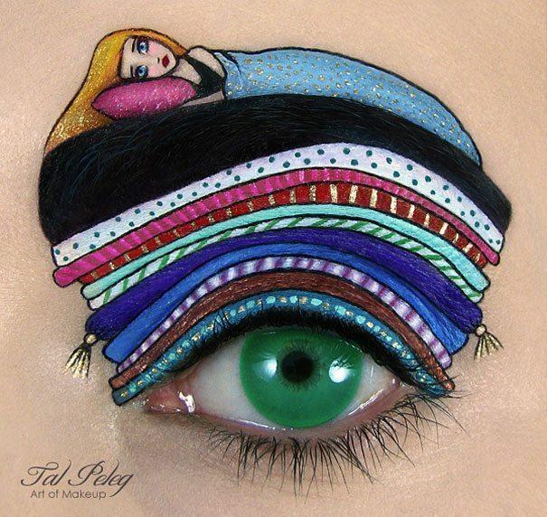 Tas nav vienkārši make-up, bet gan īsts mākslas darbs. 15 vizāžistes Tel Peleg darbi 4