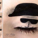 Tas nav vienkārši make-up, bet gan īsts mākslas darbs. 15 vizāžistes Tel Peleg darbi 9