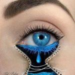 Tas nav vienkārši make-up, bet gan īsts mākslas darbs. 15 vizāžistes Tel Peleg darbi 6