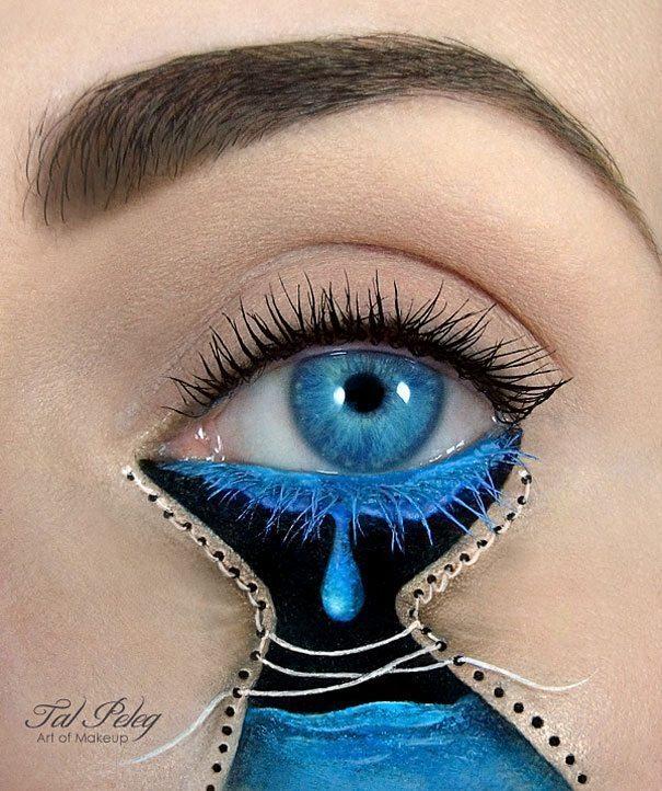 Tas nav vienkārši make-up, bet gan īsts mākslas darbs. 15 vizāžistes Tel Peleg darbi 1