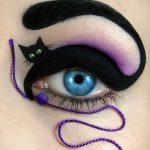Tas nav vienkārši make-up, bet gan īsts mākslas darbs. 15 vizāžistes Tel Peleg darbi 3