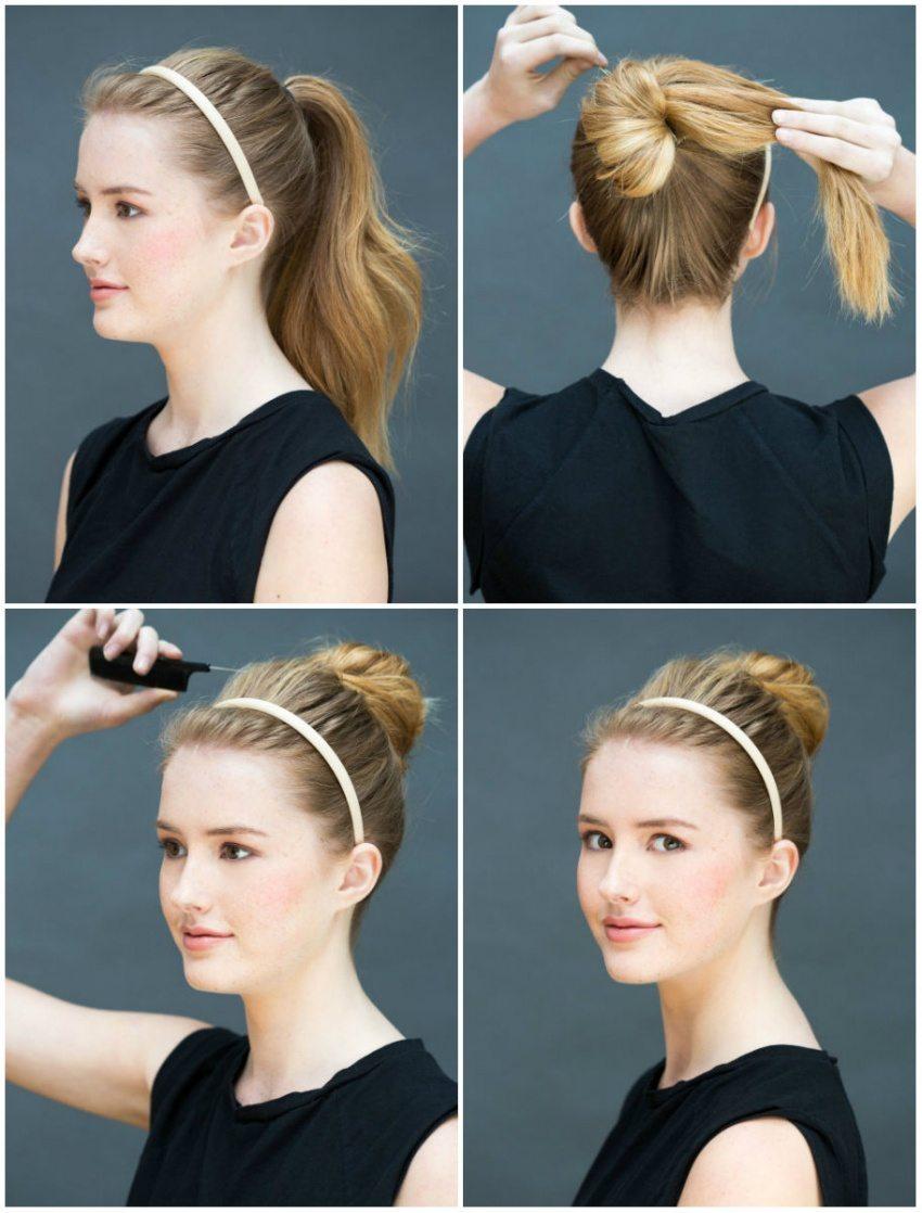 8 frizūras 10 sekunžu laikā - ātri un vienkārši 2
