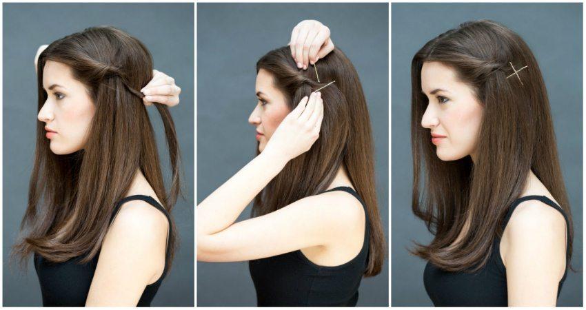 8 frizūras 10 sekunžu laikā - ātri un vienkārši 1
