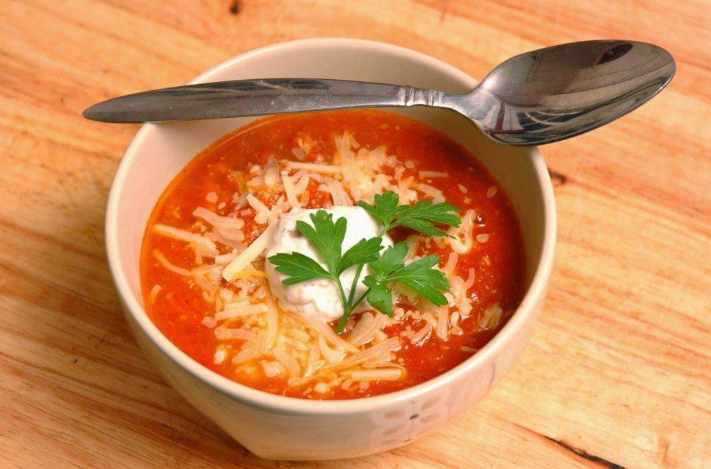Ļoti viegla tomātu krēmzupa ar sieru 2