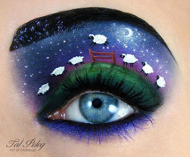 Tas nav vienkārši make-up, bet gan īsts mākslas darbs. 15 vizāžistes Tel Peleg darbi 14
