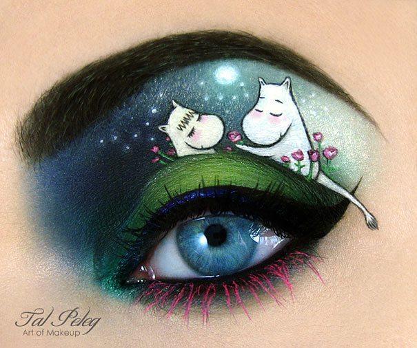Tas nav vienkārši make-up, bet gan īsts mākslas darbs. 15 vizāžistes Tel Peleg darbi 10
