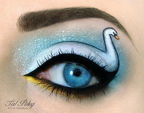 Tas nav vienkārši make-up, bet gan īsts mākslas darbs. 15 vizāžistes Tel Peleg darbi 8