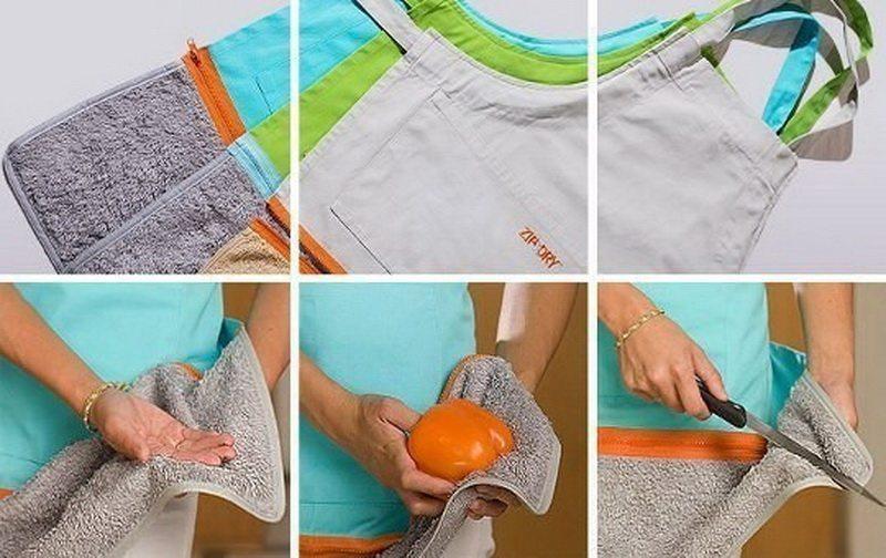 фартук с полотенцем