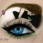 Tas nav vienkārši make-up, bet gan īsts mākslas darbs. 15 vizāžistes Tel Peleg darbi 11