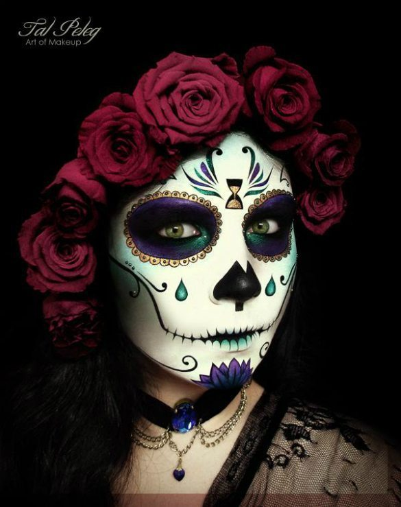 Tal-Pelegs-amazing-sugar-skull-Halloween-makeup-look
