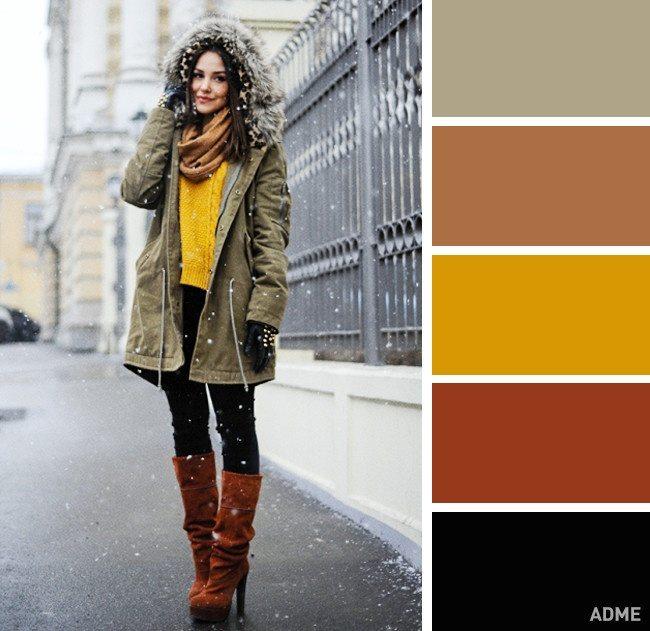 15 veiksmīgākie krāsu salikumi ziemas apģērbā 2