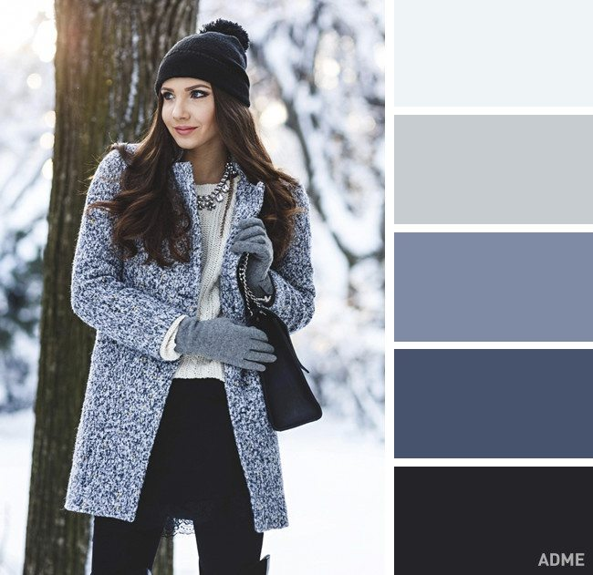 15 veiksmīgākie krāsu salikumi ziemas apģērbā 12