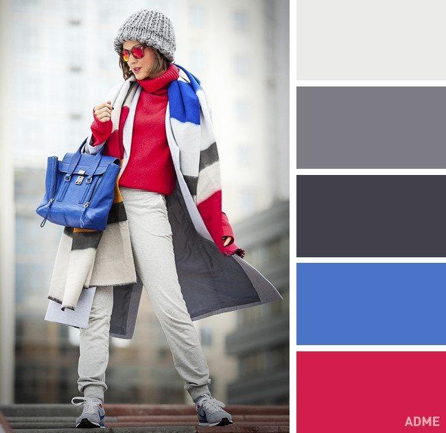 15 veiksmīgākie krāsu salikumi ziemas apģērbā 15