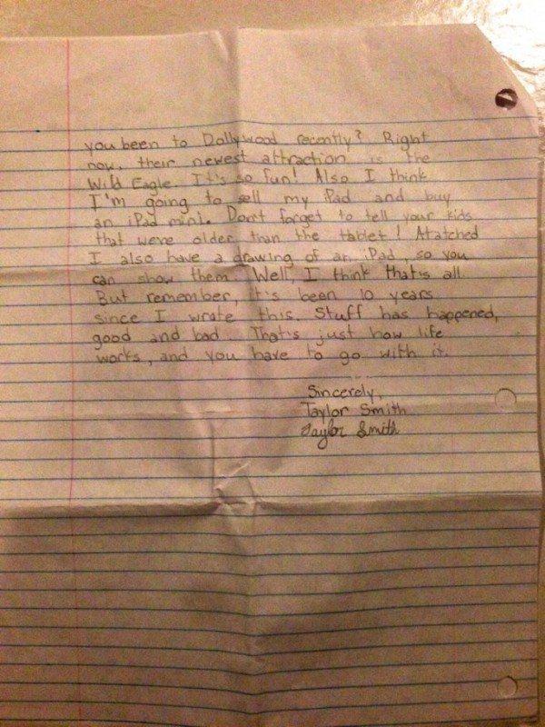 Vēstule, kuru vecāki atrada pēc meitas nāves, pārsteidza daudzus 8