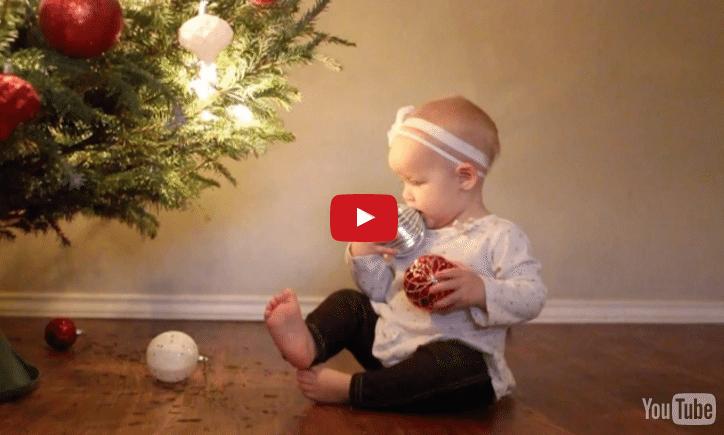 Ziemassvētki un zīdainis - šķiet pavisam nesavienojamas lietas? Noskaties video!