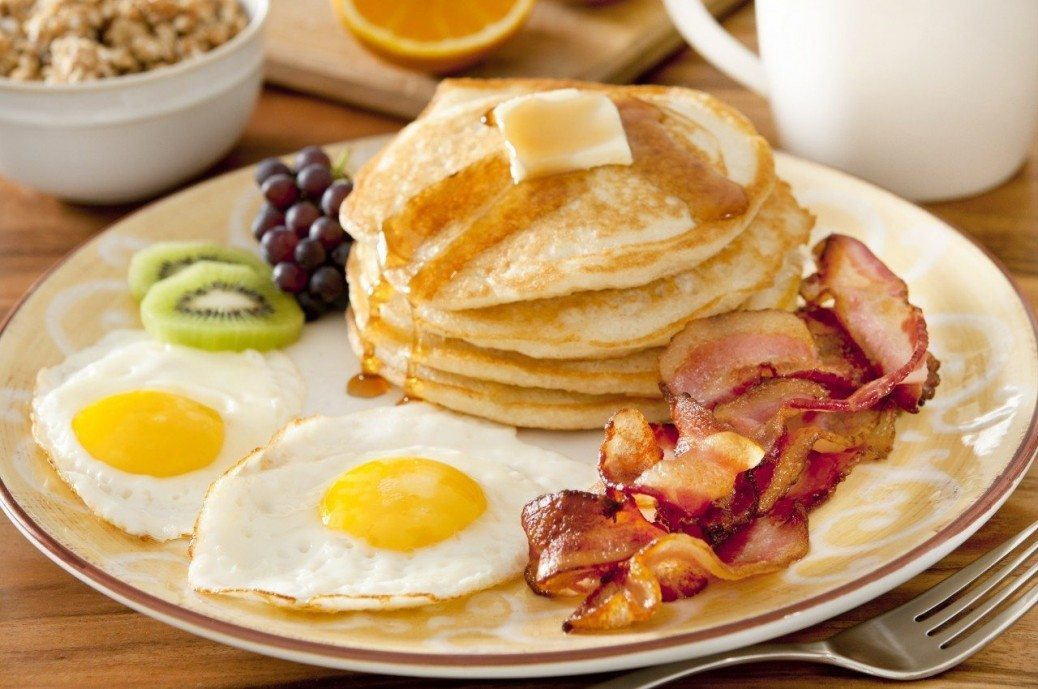 Breakfast-Eggs-Bacon-Pancakes