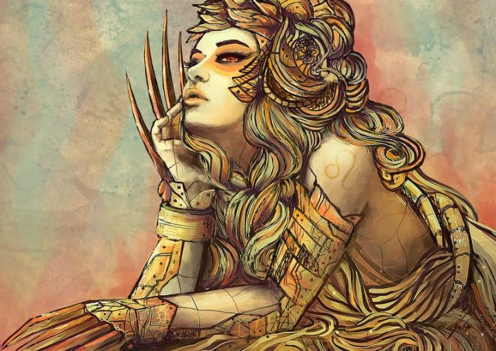 Sieviete-Lauva. Viņas alkst mīlestības un  uzmanības
