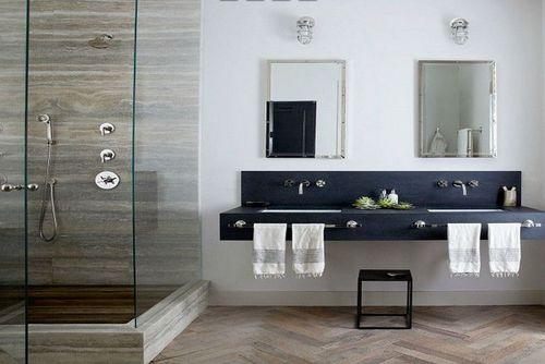 Pārkāpjot ierastā robežas: modernas tendences vannasistabas dizainā 14