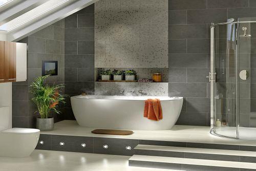 Pārkāpjot ierastā robežas: modernas tendences vannasistabas dizainā 26
