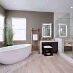 Pārkāpjot ierastā robežas: modernas tendences vannasistabas dizainā 15